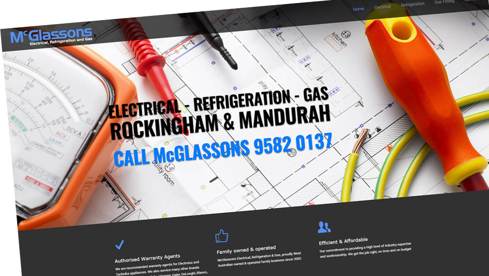 Website for electricians, electrical contractors