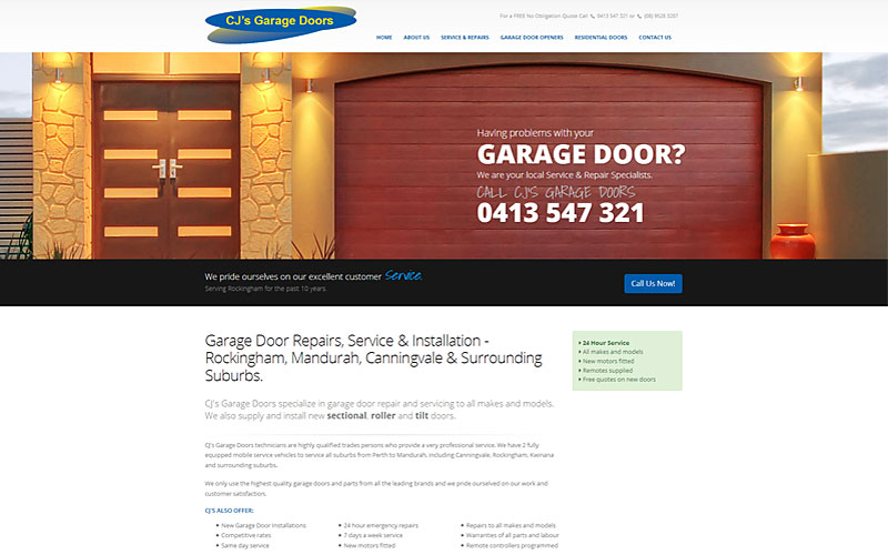 cjs-garage-doors-website-design
