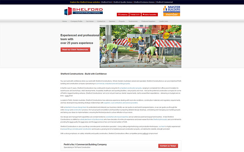 shelford-constructions-website-design