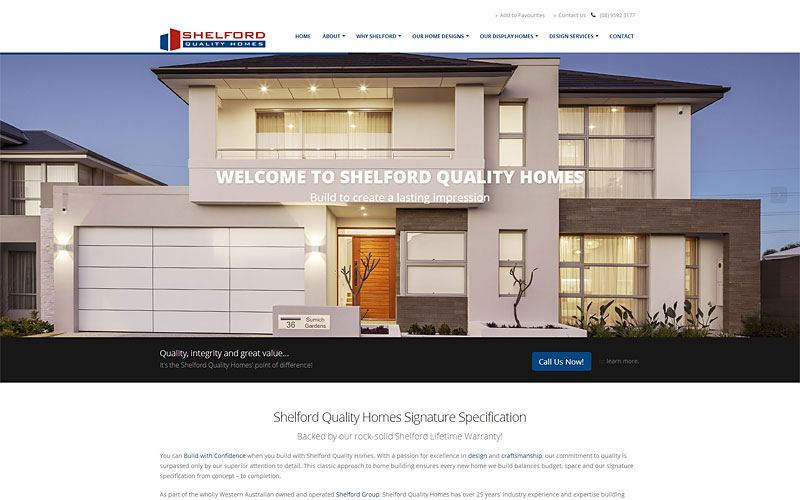 shelford-quality-homes-website-design