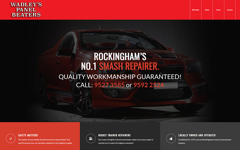 wadleys-panel-beaters-rockingham-website-design