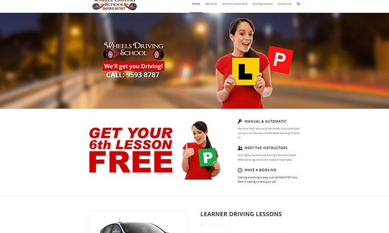 wheels-driving-school-website-design