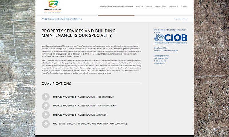 front-row-construction-website-design