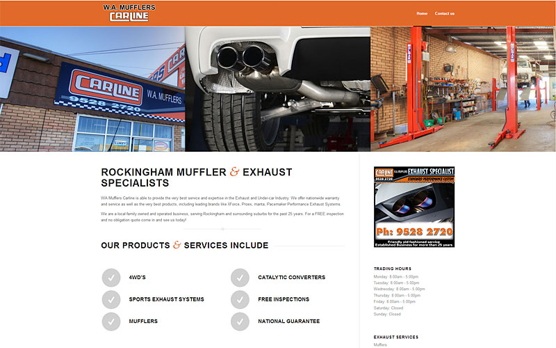 wa-mufflers-carline-website-design
