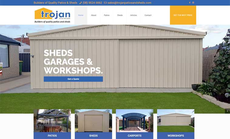trojan patios and sheds port kennedy rockingham